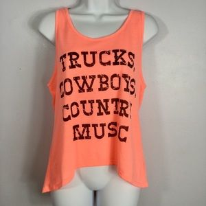Tops - Trucks Cowboys and Country Music Tank Top